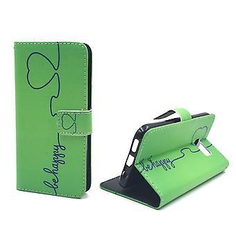 Matkapuhelin tapauksessa pussi mobiili Samsung Galaxy S7 olla onnellinen vihreä