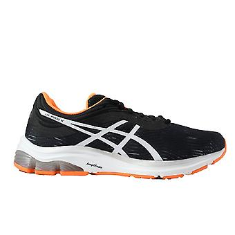 Asics Gel-Pulse 11 Black/White Mesh Mens Lace Up Running Trainers