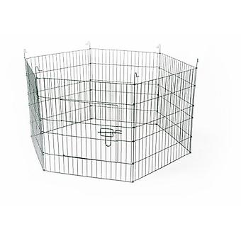 Duvo + 金属公園齧歯動物 6 パネル (小さなペット ケージと公園)