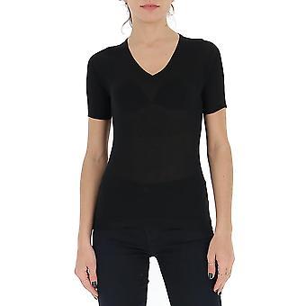 Gentry Portofino D652alg0009 Women's Black Cotton T-shirt