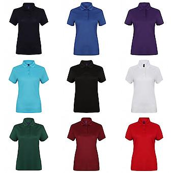 Henbury Womens/dames étirer Microfine Pique Polo Shirt