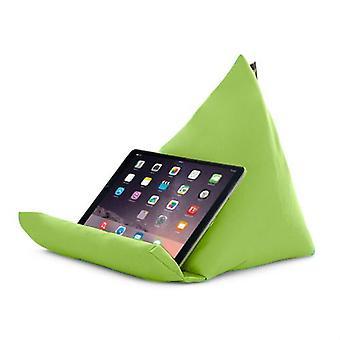 Gardenista | Waterbestendig in de buitenlucht | Piramidevormige tabletstandaard | Laptopkussen | Polystyreen Boon gevuld (Kalk)