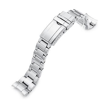Strapcode watch bracelet 20mm super 3d oyster 316l stainless steel  for tudor bb58, brushed turning clasp
