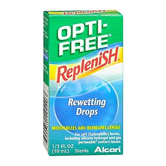 Opti-free replenish rewetting drops, 0.33 oz
