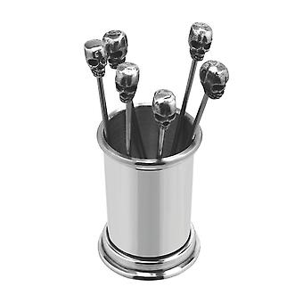 Poison Pewter Cocktail Olive Picks and Holder