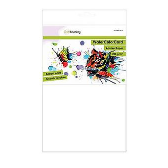CraftEmotions WaterColorCard - brilliant white 10sh A4 - 200 gr