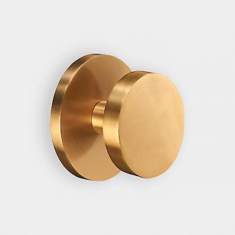 Brass Centre Door Knob - Gold - Round
