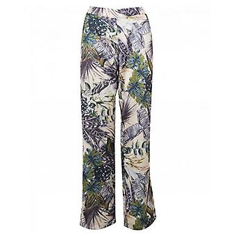 Nu Denmark Tropical Print Wide Trousers