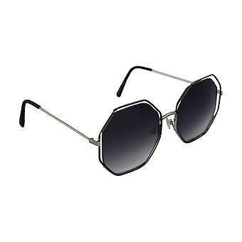 Sunglasses UV 400 6-angle Silver Zwart1996_4