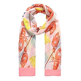 Jewelcity Dames/Dames Aquarel Lobster Print Sjaal
