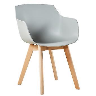 Wood4you - Kleegrauer Esszimmerstuhl - Pariso - Niedrige Sitzhöhe: 42 cm - 2 Stück