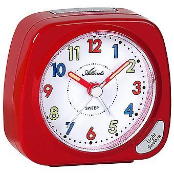 Atlanta 1936/1 Alarm clock for kids quartz children's alarm clock red quiet without ticking