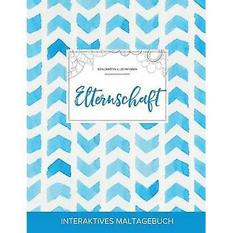 Maltagebuch fr Erwachsene Elternschaft Schildkrten Illustrationen Wasserfarben Fischgrtenmuster by Wegner & Courtney