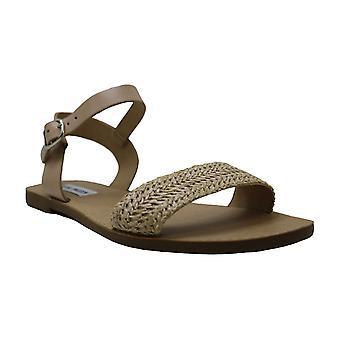 Steve Madden Womens Donddi Leather Open Toe Casual Slide Sandals