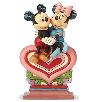 Disney Traditions Heart To Heart Mickey & Minnie