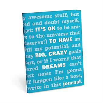 Knock Knock Its OK to Have Big Crazy Dreams Journal