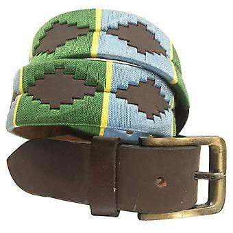 Carlos diaz unisex  brown leather  polo belt cdupb142