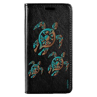 Case For Huawei P20 Lite Black Motif Family Turtle