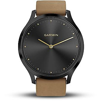Garmin Watches 010-01850-00 Vivomove Hr, Premium, Onyx Black With Tan Suede Band Touchscreen Watch