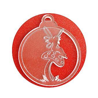 6 Pk svamp Fairy akryl juldekorationer