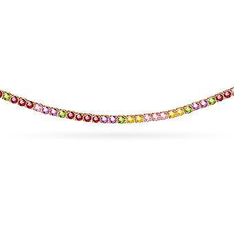 Choker Rainbow 18K Gold and Precious Stones