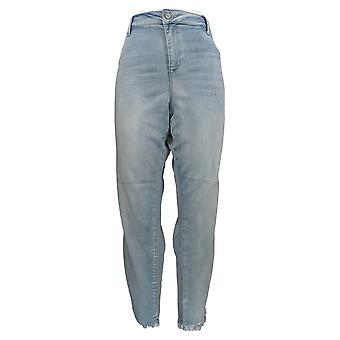 Laurie Felt Women's Jeans Silky Side Stripe Pull-On Blue A375439