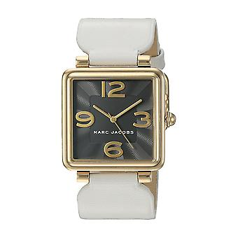 Marc Jacobs MJ1440 Vic White Leather Black Dial Ladies Watch