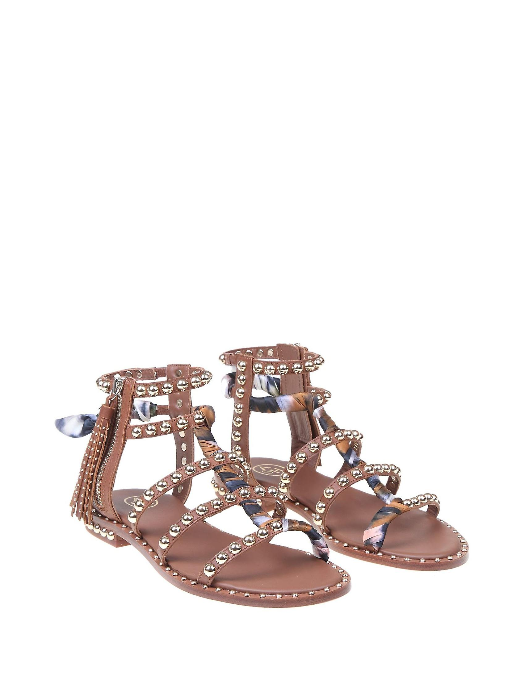 Ash Pareo02 Women's Brown Leather Sandals
