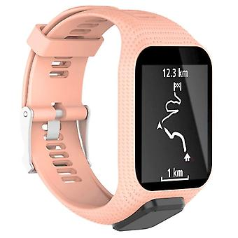 for TomTom Runner 3 Replacement Wristband Bracelet Strap Band Metal Buckle GPS Watch[Pink]