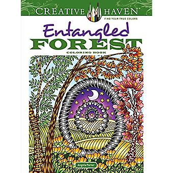 Creative Haven Entangled Forest Coloring Book by Angela Porter - 9780