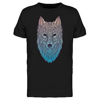 Abstract Wolf Hand Draw Tee Miesten & s -Kuva Shutterstock