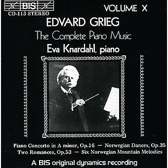 E. Grieg - Grieg: The Complete Piano Music, Vol. 10 [CD] USA import