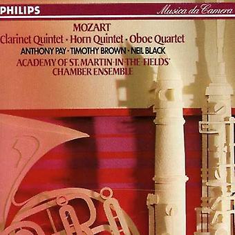 Academy of st. Martin-in-the-Fields Chamber Ensemb - Mozart: Clarinet Quintet; Horn Quintet; Oboe Quintet [CD] USA import