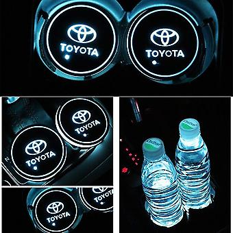 2X Toyota Led Bottom Plate for Cup Holder