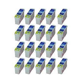 החלפת RudyTwos 20x עבור יחידת דיו של הצבע של Epson שחור תואם 810, 820, 830, 830u, 925935, C50, PM-810