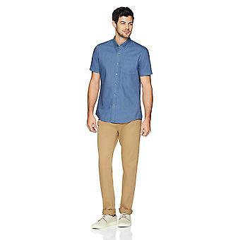 Goodthreads Men&s Standard-Fit Short-Sleeve Solid Oxford Shirt w/ Pocket, Indi...