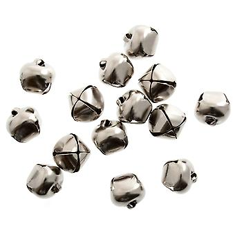 9 Silver 10mm Jingle Bells for Crafts