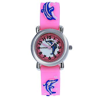 Citron Analogue Kids Dolphin Motif 3D Pink Silicone Strap Watch KID168