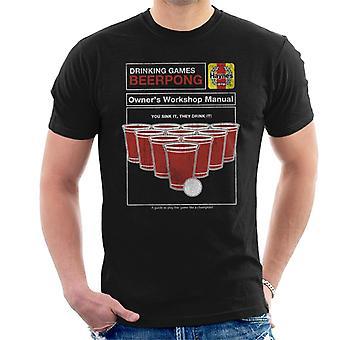 Haynes Beerpong Workshop Manuell Menn's T-skjorte