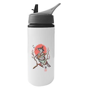 Song Bird Japan Aluminium Water Bottle With Straw