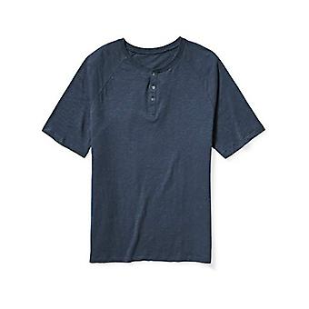 Essentials Men's big & Tall Short-Sleeve Slub Henley T-Shirt fit von DXL, Navy, 2XL