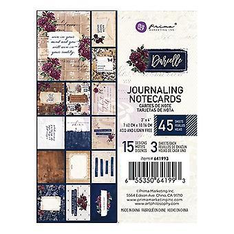 Prima markedsføring Darcelle 3x4 tommers journalkort