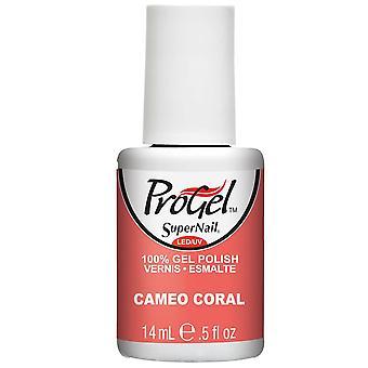 SuperNail ProGel Gel Vernis à ongles - Cameo Coral 14ml (80112)