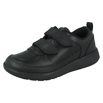 Boys Clarks Hook & Loop School Shoes Scape Flare K