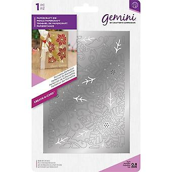 Gemini Poinsettia Perfection Create-a-Card Die
