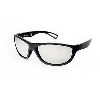 Gafas de sol Rectangular Plata/Negro para Hombre (20-254)