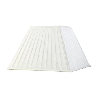 Square Pleated Fabric Shade White 200, 400mm x 275mm