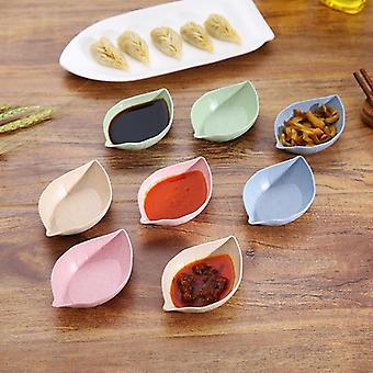 Plaque de sauce assaisonnement de forme de feuille de nourriture employée pour la moutarde, l'herbe de blé, la sauce
