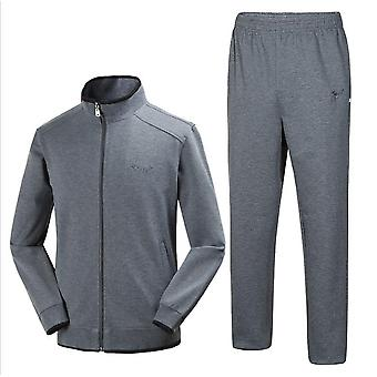 Mannen's Tracksuit Athletic Sports Casual Full Zip Sweatsuit