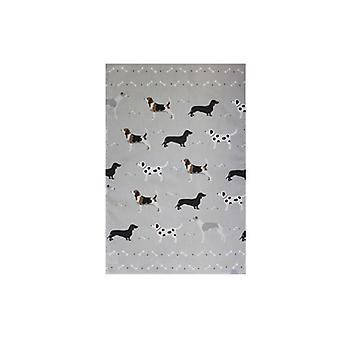 Bailey and Friends Dog Tea Towel Grey